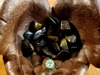 Blue Tiger Eye medium tumbled stone 1 inch