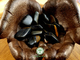Blue Tiger Eye large tumbled stone 1.25 inches