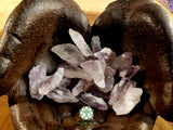 Light Amethyst Points medium rough crystal 1.25 inches