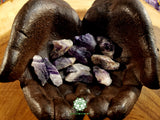 Dark Amethyst Points medium rough crystal 1.25 inches