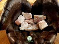 Watermelon Calcite (Light Pink) small rough crystal 1-1.25 inches