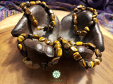 Tiger Eye Tumbled Bead Stretchy Bracelet (8 inches)