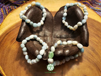 Amazonite Tumbled Bead Stretchy Bracelet (8 inches)