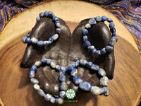 Sodalite Tumbled Bead Stretchy Bracelet (8 inches)