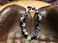 Sodalite Chip Bead Stretchy Bracelet (7 inches)