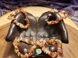 Carnelian Chip Bead Stretchy Bracelets (7 inches)