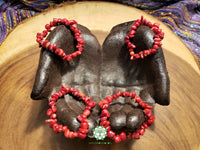 Red Coral Stretchy Bracelet (7 inches)