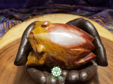 Large Hand-Carved Pakistani Onyx Frog 4 inches long (POA01)