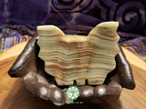 Large Hand-Carved Pakistani Onyx Butterfly 4 inches long (POA09)
