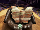Large Hand-Carved Pakistani Onyx Butterfly 4 inches long (POA13)
