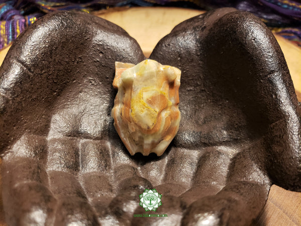 Small Hand-Carved Pakistani Onyx Frog 2 inches long (POA33)