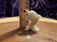 Small Hand-Carved Pakistani Onyx Dolphin 2 inches tall (POA35)