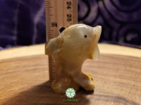 Small Hand-Carved Pakistani Onyx Dolphin 2 inches tall (POA46)