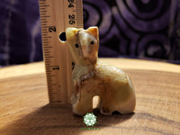 Small Hand-Carved Pakistani Onyx Cat 2 inches tall (POA47)