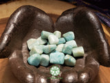 Amazonite small tumbled crystal .75 inch