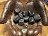 Black Tourmaline medium tumbled stone 1 inch