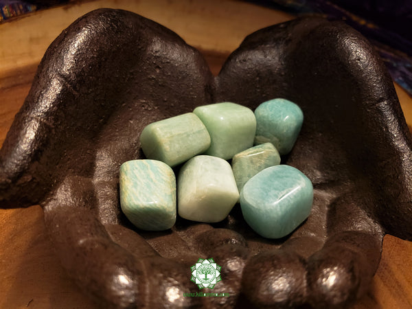 Amazonite large tumbled crystal 1.25 inches
