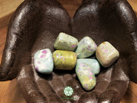 Ruby in Fuchsite large tumbled stone 1.25 inches