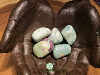 Ruby in Fuchsite Xlarge tumbled stone 1.5 inches