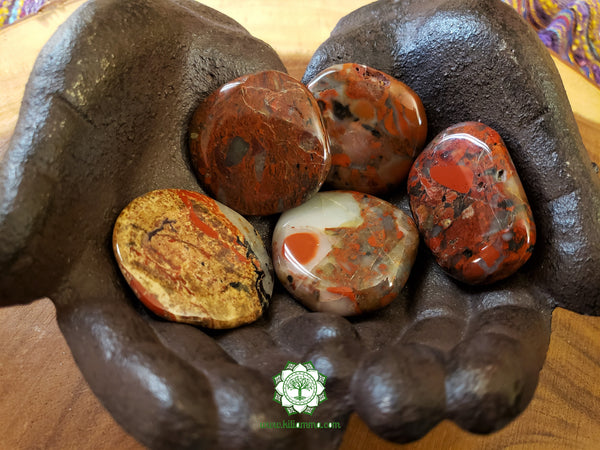 Brecciated Jasper Medium Worry Stone 1.75 inches