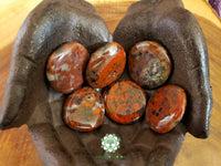 Brecciated Jasper Small Worry Stone 1.5 inches