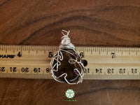 Smoky Quartz and Garnet Wire Wrapped Pendant 1.6x1 inches (WW23)
