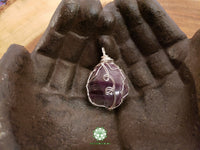 Rainbow Fluorite Wire Wrapped Pendant 1.8x1.2 inches (WW30)