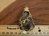 Rough Multi-colored Tourmaline Wire Wrapped Pendant 2.4x1.4 inches (WW34)
