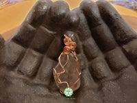 Smoky Quartz Wire Wrapped Pendant 1.9x.9 inches (WW38)