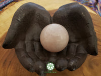 Rose Quartz Sphere 50mm crystal ball with stand (CB02)