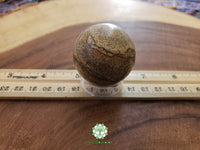 Picture Jasper (Bigg's Brown Jasper) Sphere 40mm gemstone ball with stand (CB06)
