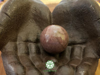 Rhodonite Sphere 40mm gemstone ball with stand (CB08)