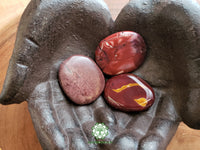 Mookite in shades of red Smooth Worry Stone, Chakra Stone large 1.75 inches