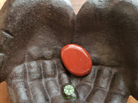 Red Jasper Smooth Worry Stone, Chakra Stone small 1.5 inches