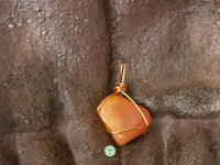 Carnelian Wire Wrapped Pendant 1.1x.7 inches (WWP118)