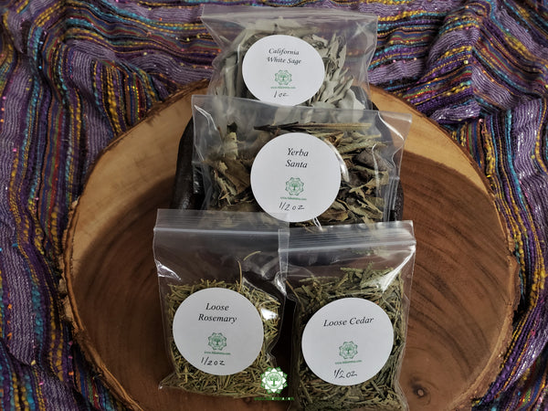 Starter Loose Herbs Smudge Set 4 pcs