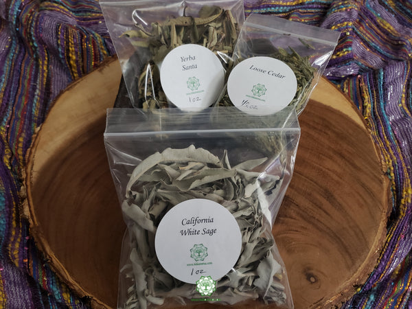 Basic Loose Herbs Smudge Set 3 pcs