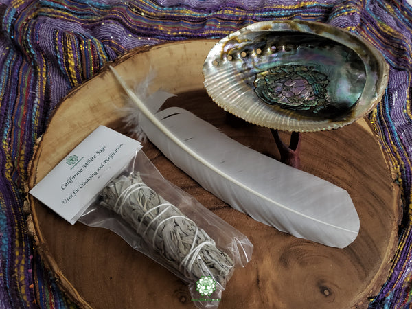 White Sage Bundle Smudging Set (Medium Bundle)