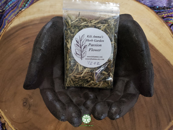 Organic Dried Passion Flower (Passiflora incarnata, apricot vine, maypop, wild passionflower)  loose herb