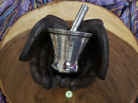 Silver Plated Bronze Mortar and Pestle