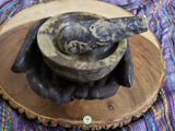 Soapstone Celtic Knot Mortar and Pestle