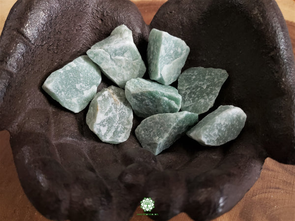 Green Aventurine small rough crystal 1.25 inches