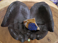 Azurite with Malachite on matrix large rough crystal 2 x 1.4 x 1.5 inches (Az04)