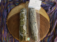Large California White Sage with Cedar (Salvia Apiana & Cedrus) Bundle 9-10 inches