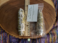 Medium California White Sage with Cedar (Salvia Apiana & Cedrus) Bundle 5 inches