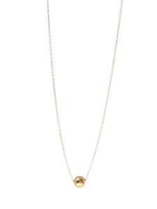 Bb Orbit Necklace / 14Kt Yellow gold & Sterling Silver