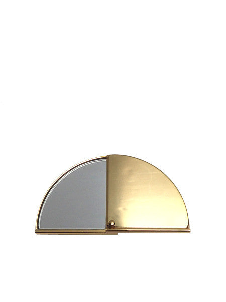 Fan Pocket Mirror / Brass