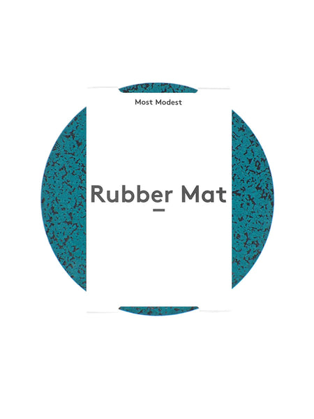 "Most Modest - 11"" Rubber Mat / Marbled Teal"