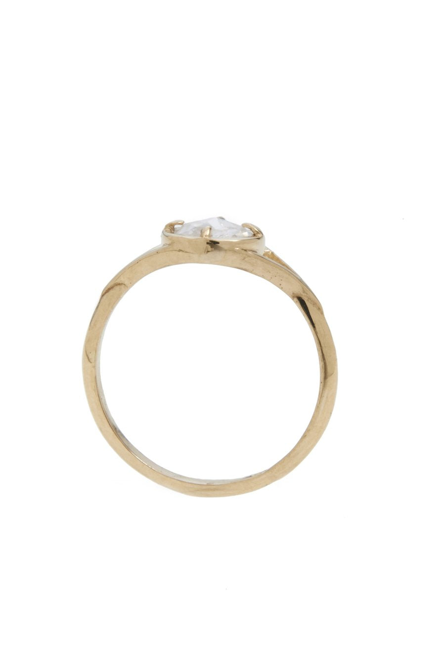 Dylan Ring / 14kt Yellow Gold / CZ