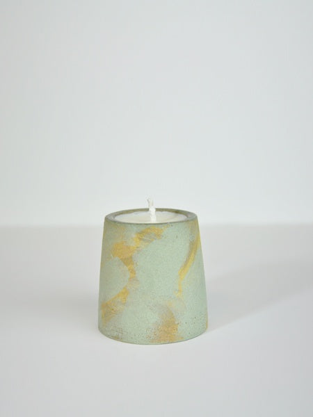 Little Garage Shop - 4oz Coriander & Black Pepper Candle / Yellow & Denim